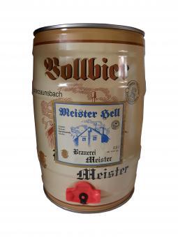 Brauerei Meister, Unterzaunsbach - 5 Liter Partyfass, Hell